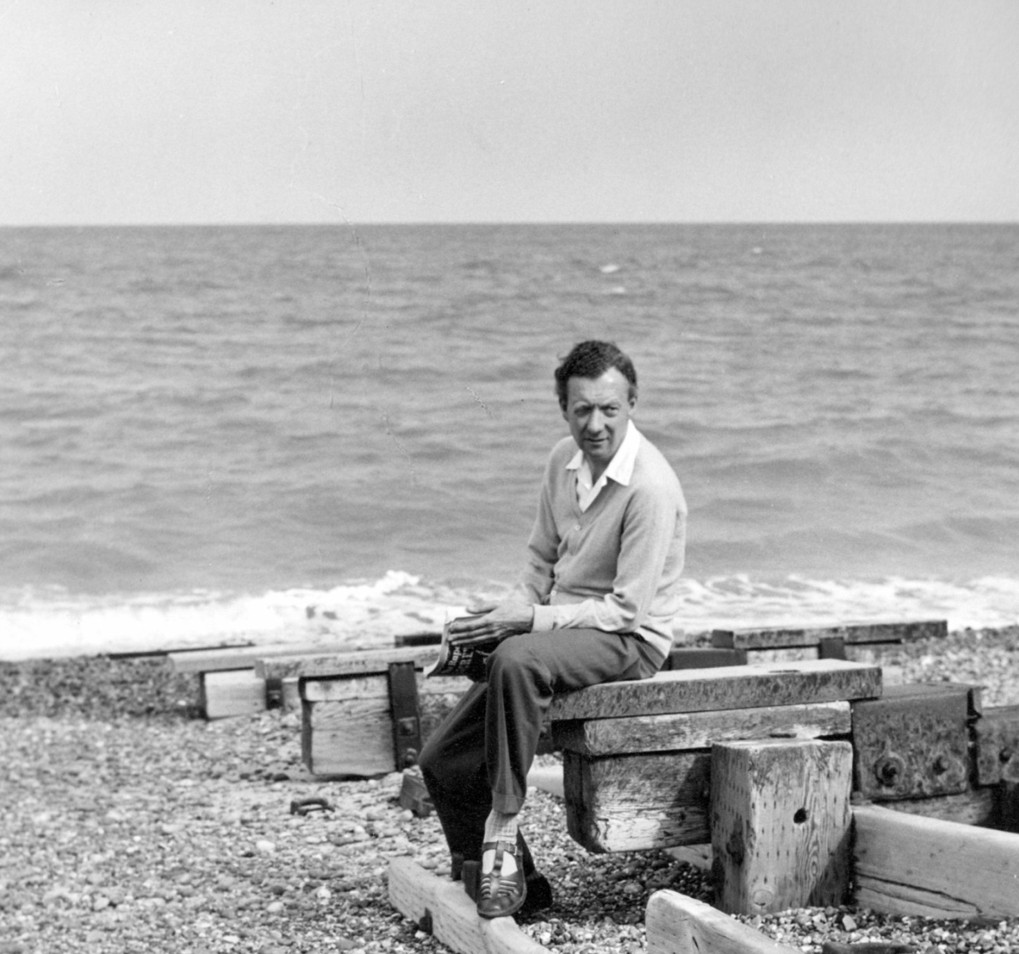 Benjamin Britten, 1959, On Aldeburgh Beach