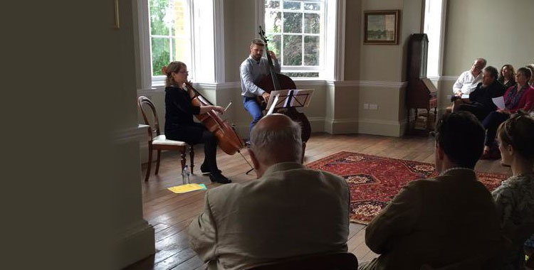 Concert at Chute Lodge, Sunday 12 July 2015